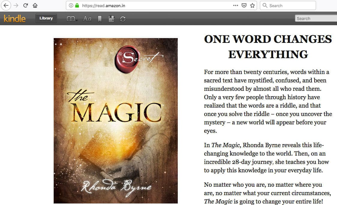 kindle-library-book-magic-rhonda-byrne