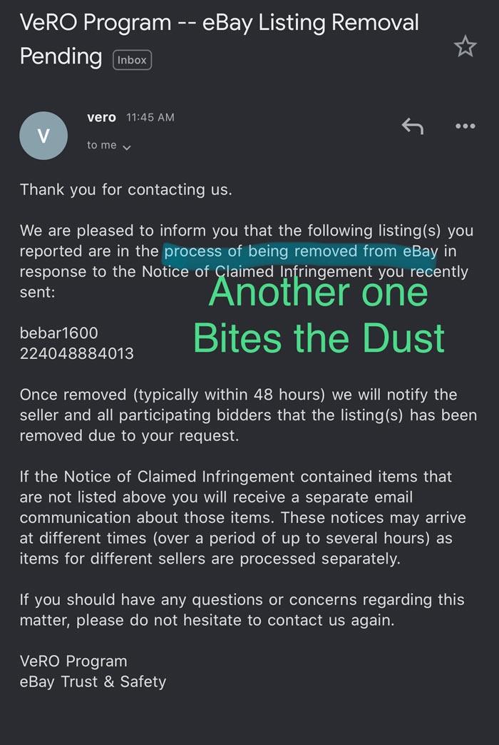 Listing-Removal